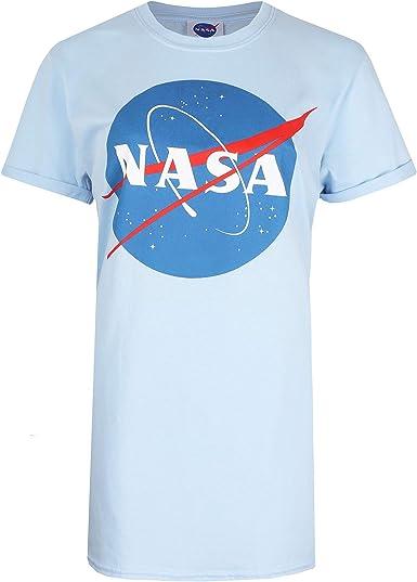 Nasa Original Circle Camiseta para Mujer: Amazon.es: Ropa y accesorios