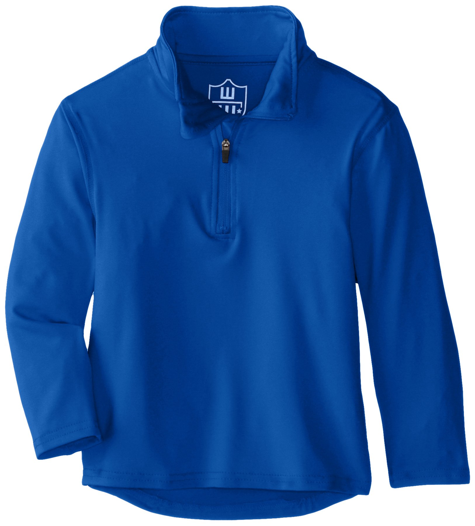 Wes and Willy Boys' Little Performance Pullover Quarter Zip Top, Blue Moon, 6