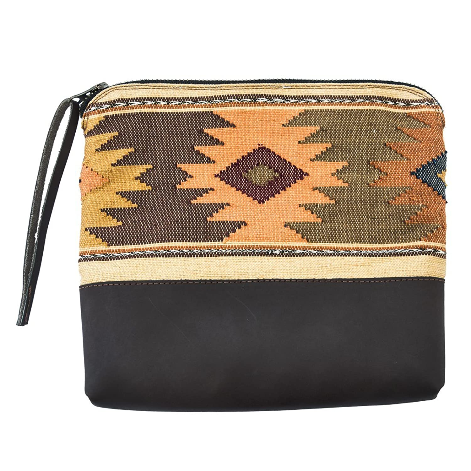 Guatemalan Native Comalapa Clutch Bag Handmade by Hide & Drink :: Sunset
