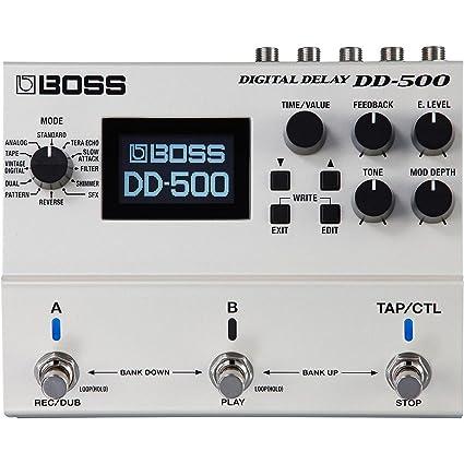BOSS dd-500 Digital Delay guitarra eléctrica Pedal de Efectos DD500