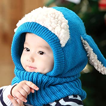 283eb89c630d92 モコモコひつじさんニット帽 子供帽子 ベビー帽子 キッズ帽子 新生児帽子 ベビー ニット帽