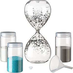 "Lillian Rose US120 Unity Sand Hour Glass, 8"" x 3.25"", Clear"