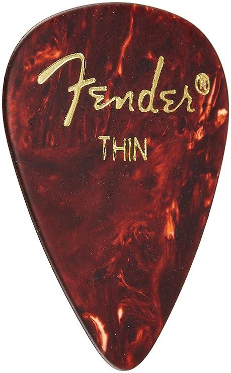 Fender 351 - Púas de celuloide delgadas clásicas, 12 ...