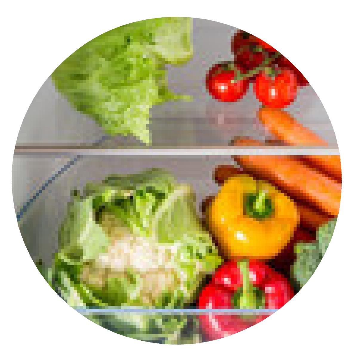 alfombrilla de ratón Abrir la nevera llena de frutas y hortalizas ...