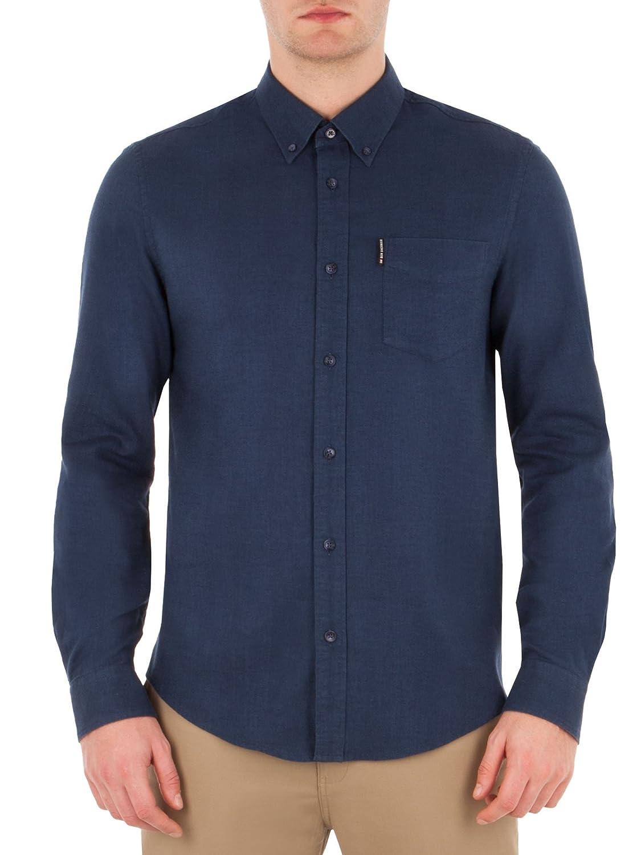 Long Sleeve Brushed Plain Shirt - MA13343