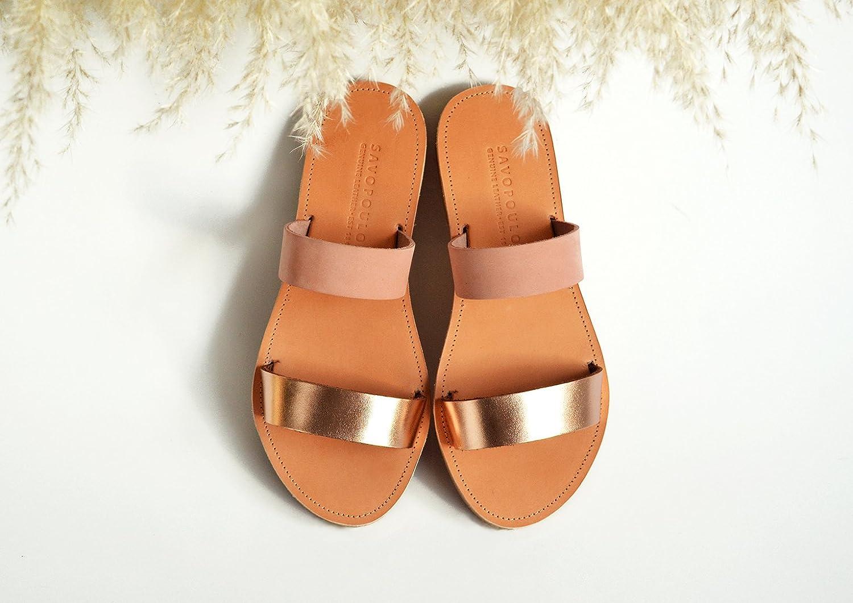 08672a323a58 Amazon.com  Leather sandals women
