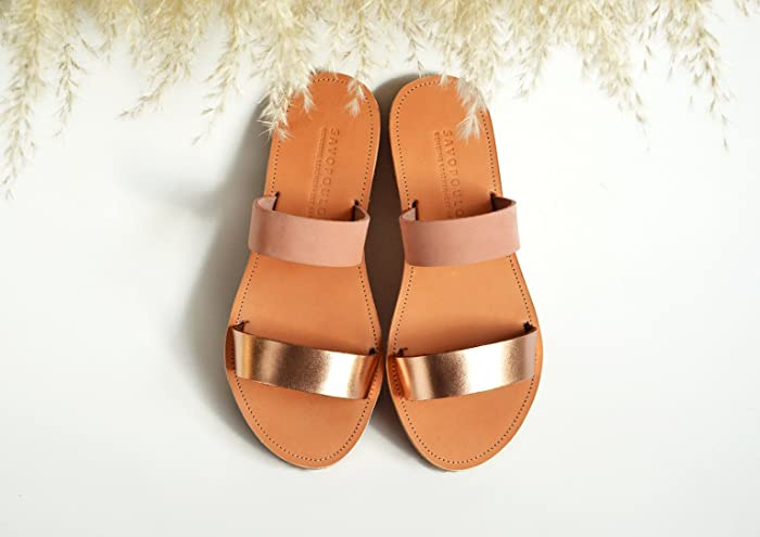 0997c008d99 Amazon.com  Leather sandals women