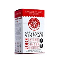 Squeeze Dried Apple Cider Vinegar: Inflammation, Digestion, Natural Detox, Bloating, Circulation with Probiotics - 30 Count Sticks