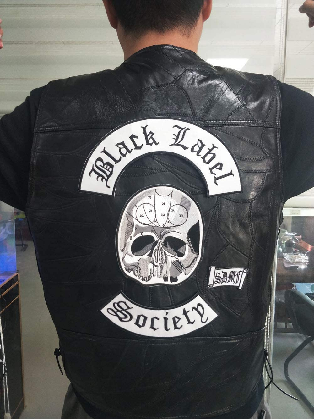Excellent 4pc Back Set Black Label Society Embroidered Iron Patch Biker Jacket Rider Vest Patch Iron On Any Garment Model G0220 30cmx28cm Arts Crafts Sewing