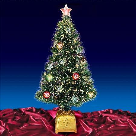 80cm Green Fibre Optic Christmas Tree With Decorations - 80cm Green Fibre Optic Christmas Tree With Decorations: Amazon.co.uk