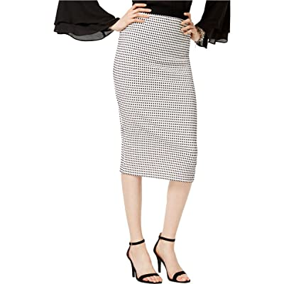 Alfani Womens Checkered Knee Length Pencil Skirt B/W M at Amazon Women's Clothing store