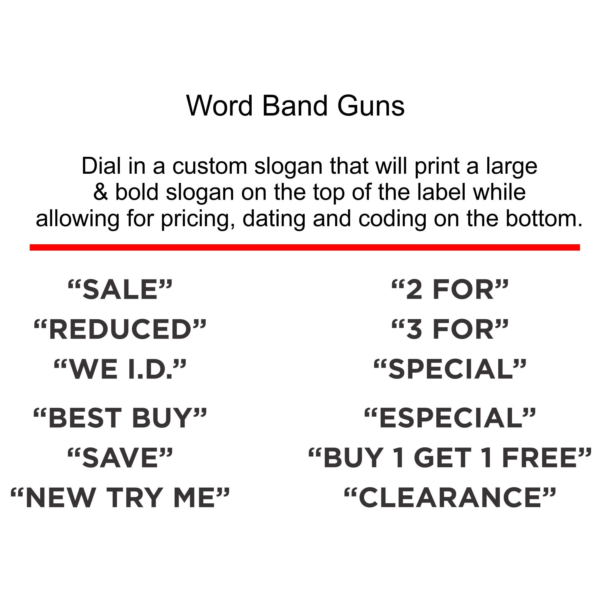 Contact Price Tagging Gun, Model 22.16, 2-Line, Word Band Price Tag Gun, Includes 1 Pricing Gun and pre-Loaded with Over 1,100 Standard (White) Price Stickers. Label Size: (HxW) 16mm x 22mm by Contact Label (Image #3)