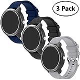 BIGTANG Vivoactive 3 Watch Band, 20mm Soft Silicone ReplacementBands for Garmin Vivoactive 3/ Garmin Forerunner 645…