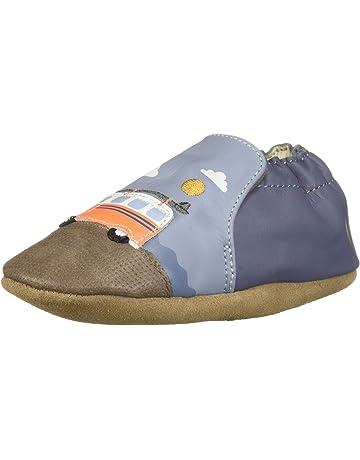 dd27909e09f Robeez Boys  Soft Soles Crib Shoe Light Grey 0-6 Months