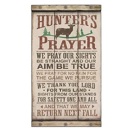 Open Road Brands Hunter S Prayer Wood Wall Art