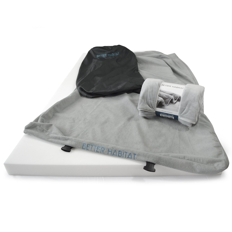 [NEW] Better Habitat SleepReady Memory Foam Floor Mattress (75 x 36''). [Roll out, Portable sleeping pad w/ waterproof cotton terry cover & travel bag] by Better Habitat (Image #9)