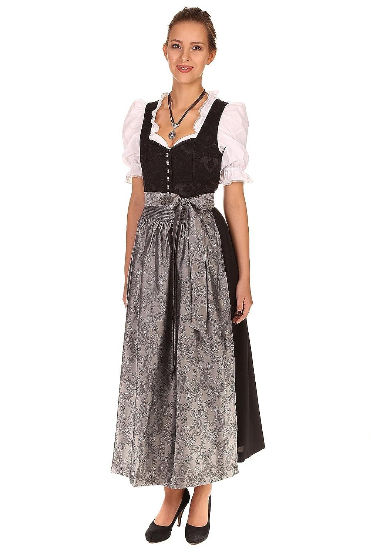 Turi Landhausmode Damen Dirndl schwarz D521011 Kamilla ohne Schürze