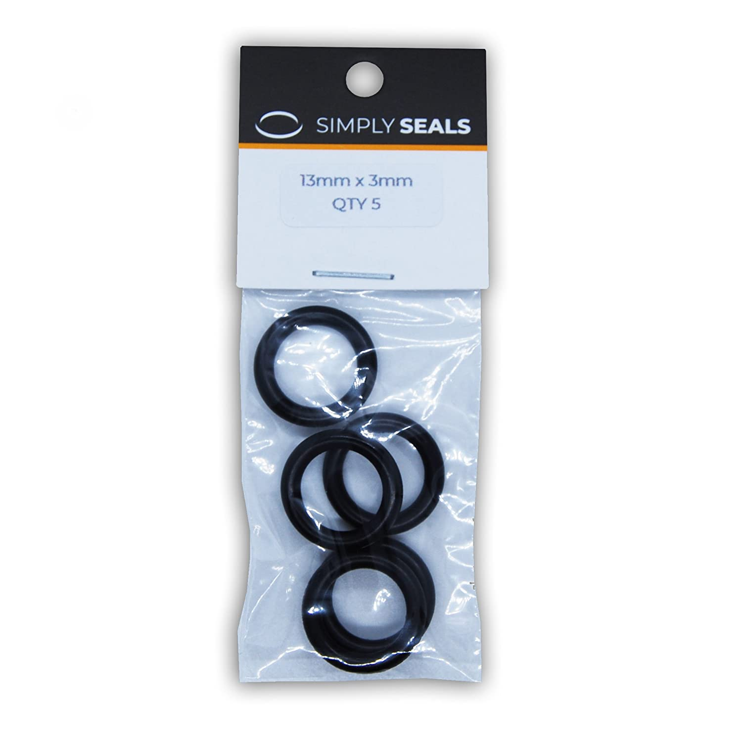 13mm x 3mm Metric Nitrile O-Rings - 70A Shore (Pack of 10) Simply Seals