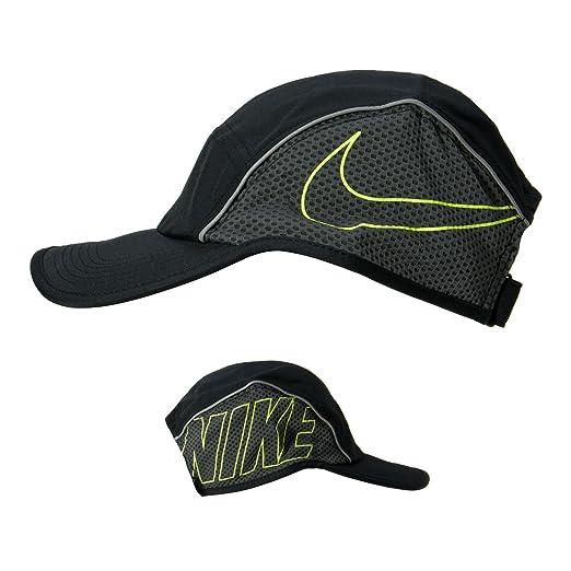 Amazon.com: Nike AeroBill Running Cap - SP18 - One - Black: Sports &  Outdoors