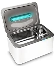 InvisiClean Ultrasonic Cleaner & UV Light Sanitizer - Cleaning Machine for Engagement Rings, Mouth Guards, Parts - Sterilizer for Cell Phones, Makeup Brushes, Nail Tools – UV-C Kills Germs & Mold