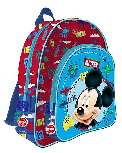 Mochila Mickey Disney 2 cremalleras adaptable 41cm