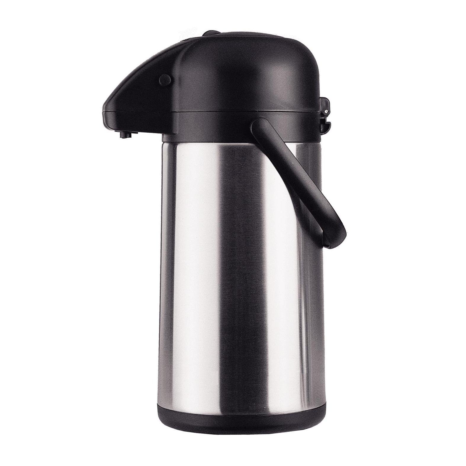 Chef's Supreme - 2.2 L Black Stainless Airpot w/ Pump Lid