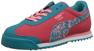 00d922d10978 PUMA Roma Splatter JR Sneaker (Little Kid Big Kid)
