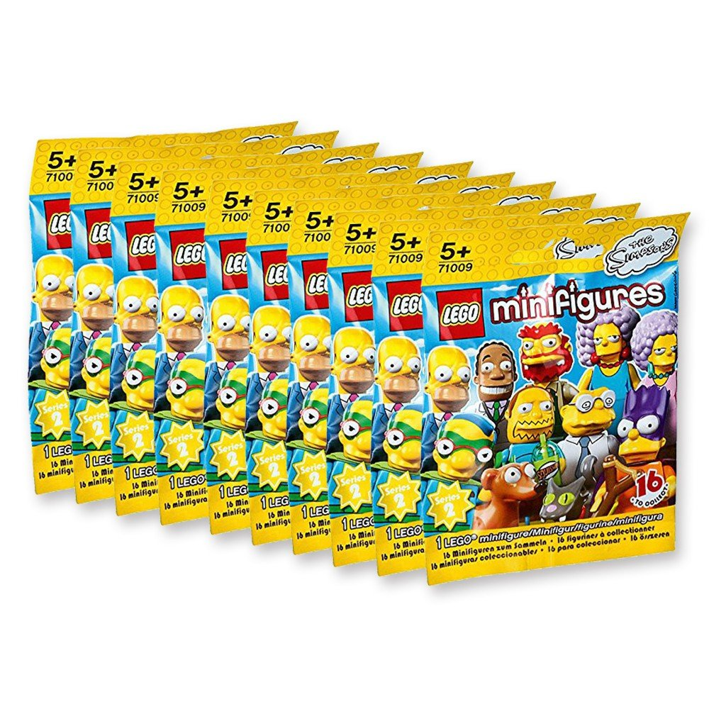 Lego Minifiguren: Die Simpsons 10 Tuuml;ten (1 Figur Pro Tuuml;te) [Importación Alemana]