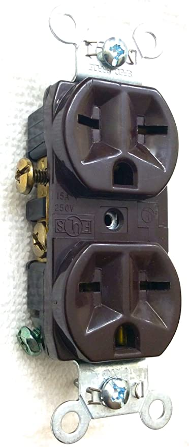 Leviton Ivory COMMERCIAL Duplex Outlet Receptacle 250V 15A 5028-I