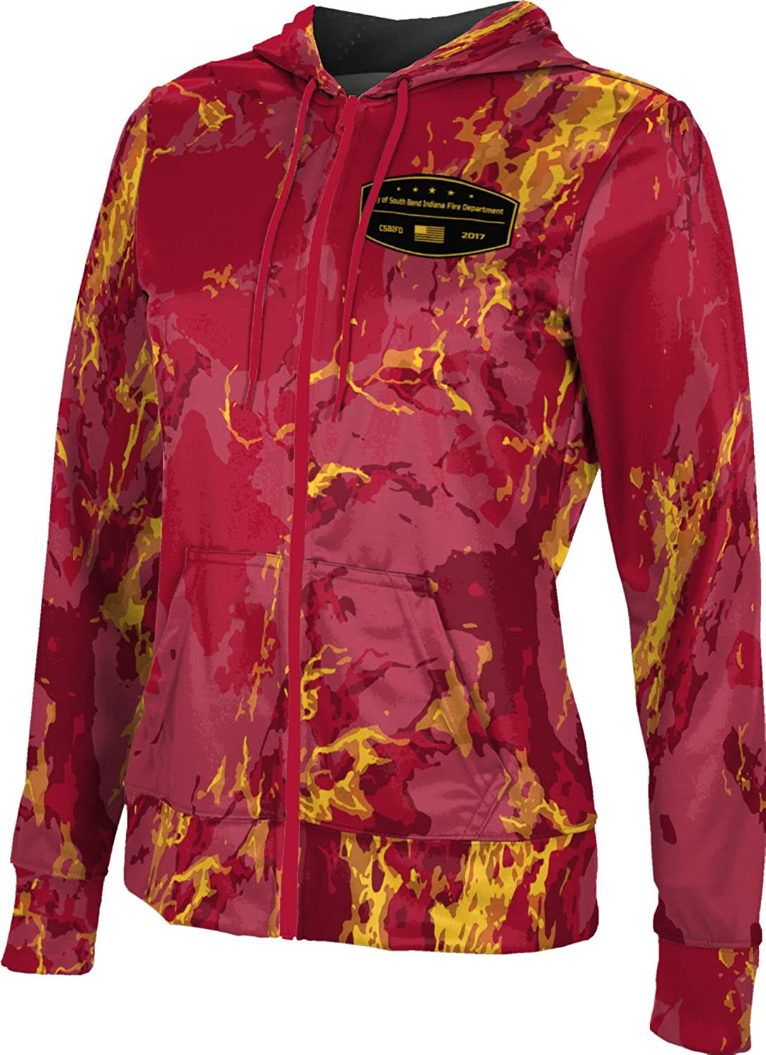 Women's City of South Bend Indiana Fire Department Marble Fullzip Hoodie