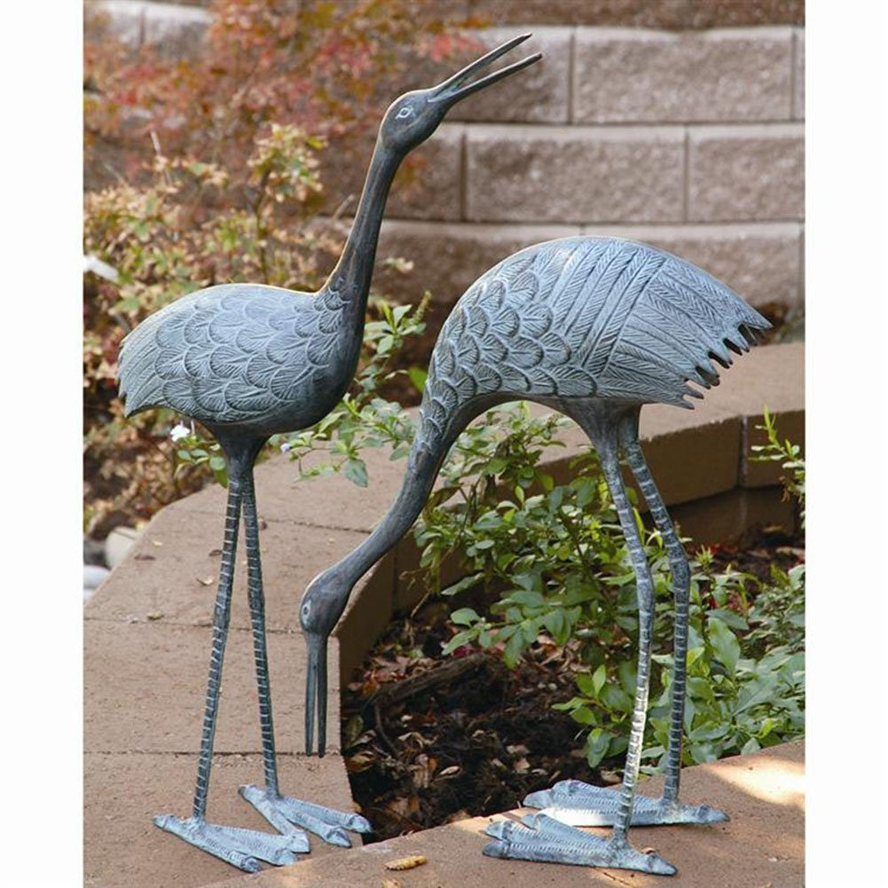 Amazoncom SPI Home BS3139 Stately Garden Cranes Sculpture Set