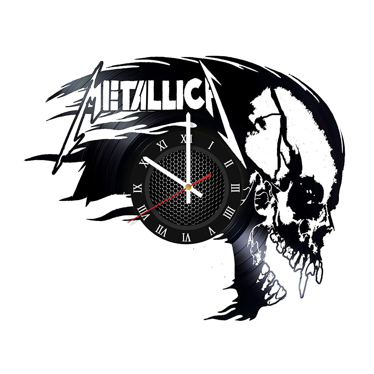 Metallica Home Decor vinyl Music Clock Singer Band Legend Gift Idea for Him Fan club Home Decor Idea Wall Clock Design Special Offer Special Occasion Wall Clock Music Bands and Musicians Themed