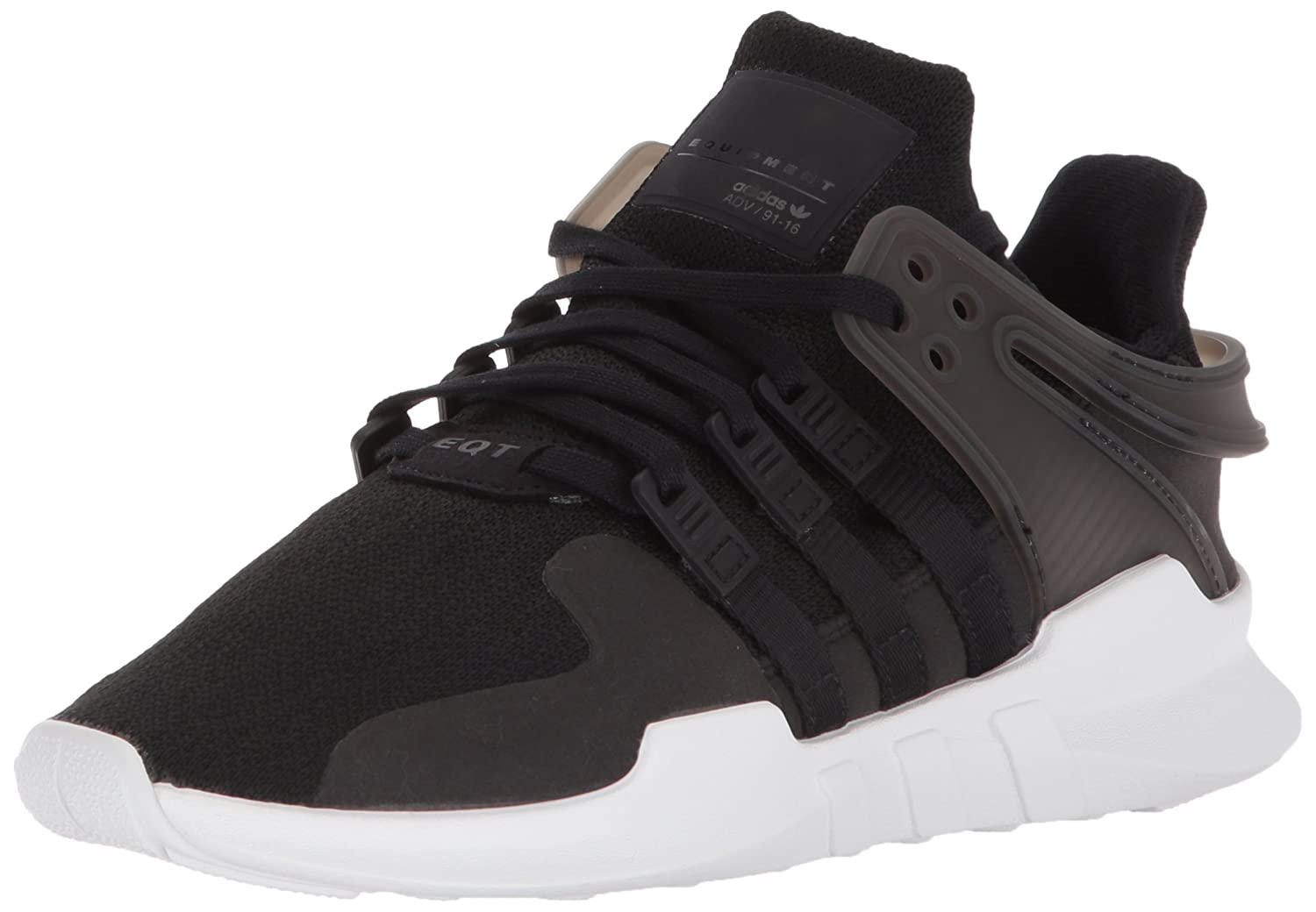 buy popular 70760 3a6fc Amazon.com  adidas Originals Boys EQT Support ADV J Running Shoe Black White, 4 M US Big Kid  Shoes