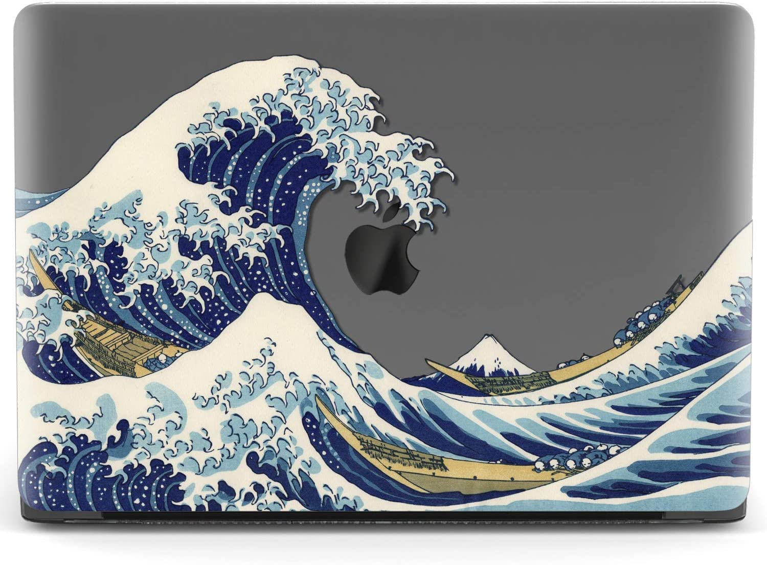 Mertak Hard Case for Apple MacBook Pro 16 Air 13 inch Mac 15 Retina 12 11 2020 2019 2018 2017 Laptop Japanese Women Shell Design Protective Girl Clear The Great Wave Off Kanagawa Art Print Cover