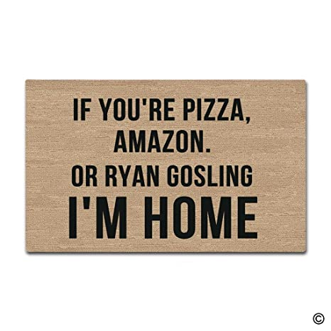 MsMr Entrance Doormat   Funny And Creative Doormat   If Youu0027re Pizza, Amazon