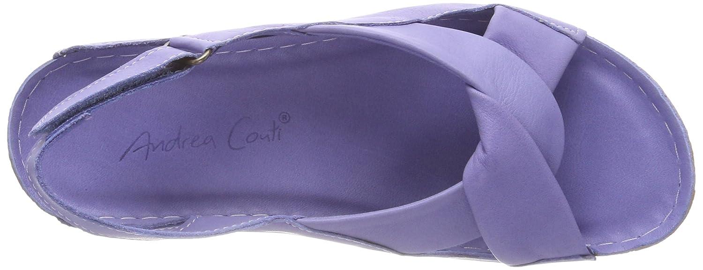 Andrea Conti Conti Andrea Damen 0027437 Offene Sandalen, Violett (Flieder) 4ad255