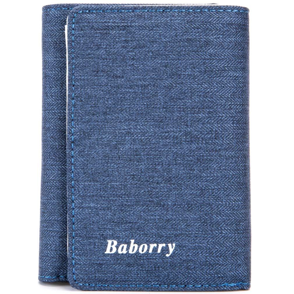 DAYIYANG Special Design Mens New Wallet Card Bag Wallet Men Short Paragraph Change Bag RFID Color : Blue, Size : S