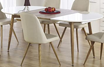 Delicieux CARELLIA Ensemble Table A Manger Ovale Extensible + 4 CHAISES