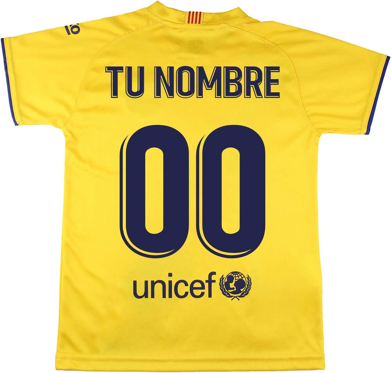 Champions City Camiseta - Personalizable - Adulto Segunda Equipación - FC Barcelona - Réplica Autorizada: Amazon.es: Deportes y aire libre