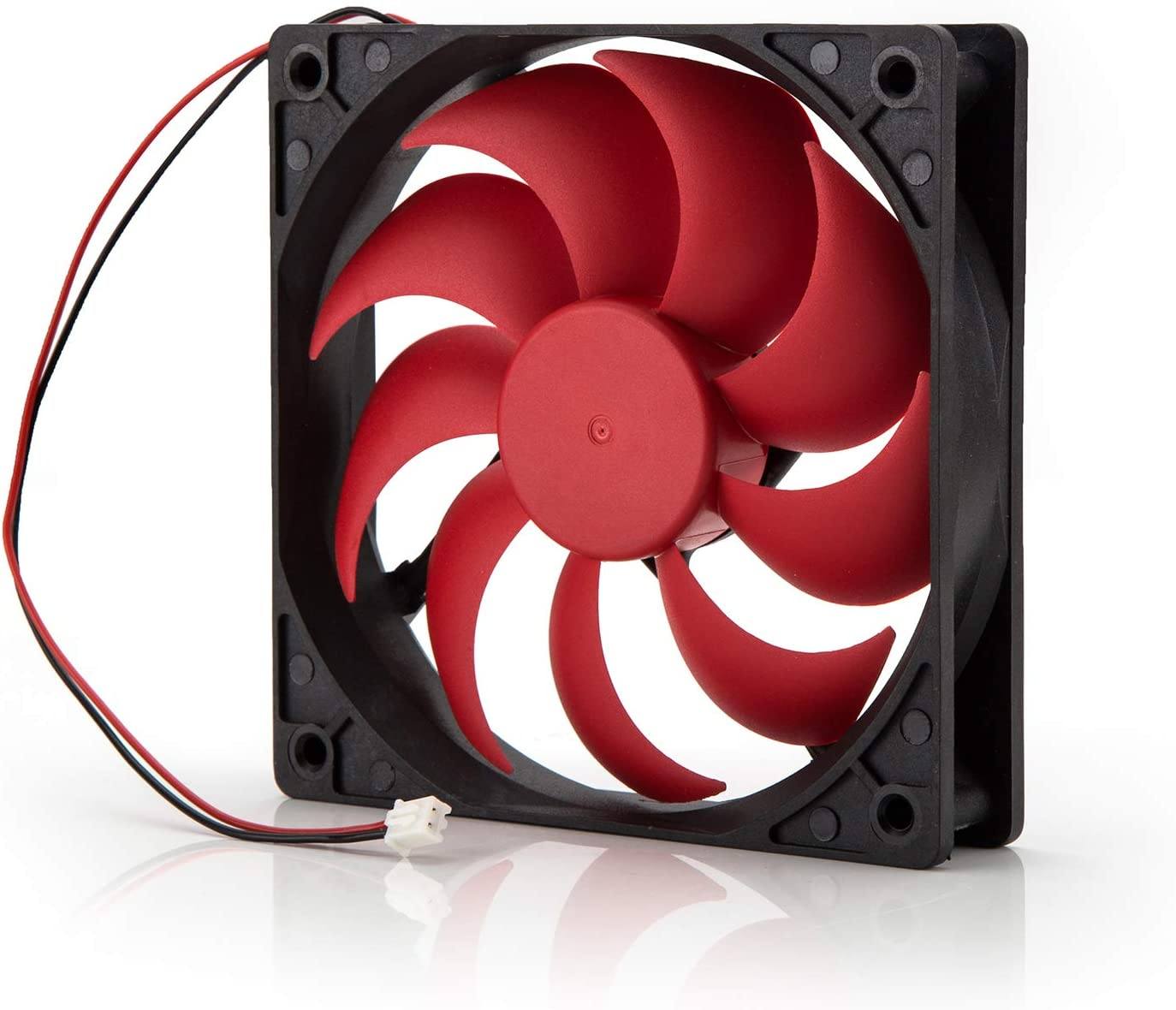 Neuftech® 120x120mm Ventilador de CPU Cooling Cooler Fan para Caja de PC Ordenador 12V,Negro y Rojo