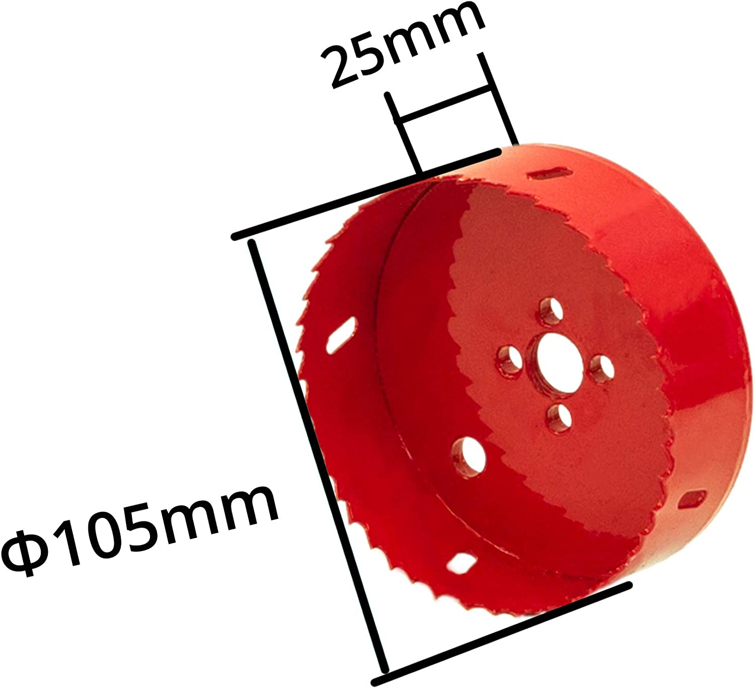 Suitable for All 3//8 Electric Drills Aluminum Elbe 100mm Hole Saw 6542 HSS Ideal for Cutting Stainless Steel Black PVC Board and Plastic Plate and Wood high Speed Steel M2