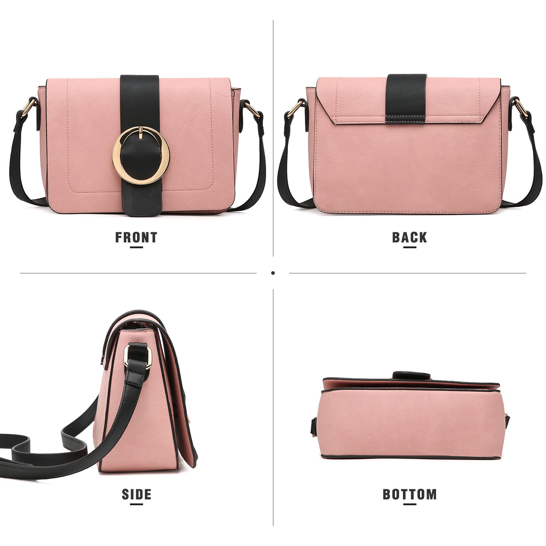 Women Vegan Leather Crossbody Shoulder Bags Fashion Purses Structured Messenger Bags