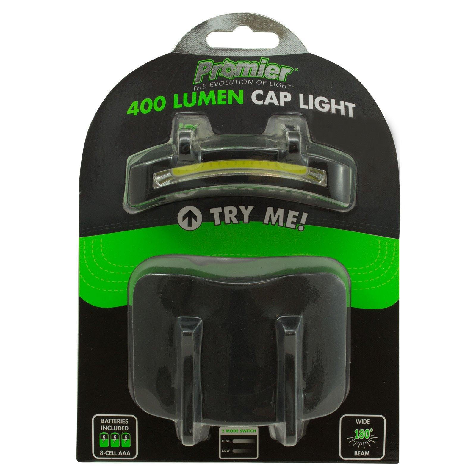 2 PACK - 400 Lumen Hi Mode / 180 Lumen Low Power Mode (2 X Cap Lights > 2 X Power & 2 X Bright) COB LED Clip On Cap Light DOUBLE BRIGHT (100% MFG Guarantee) (Black) by Apollo's Products (Image #7)
