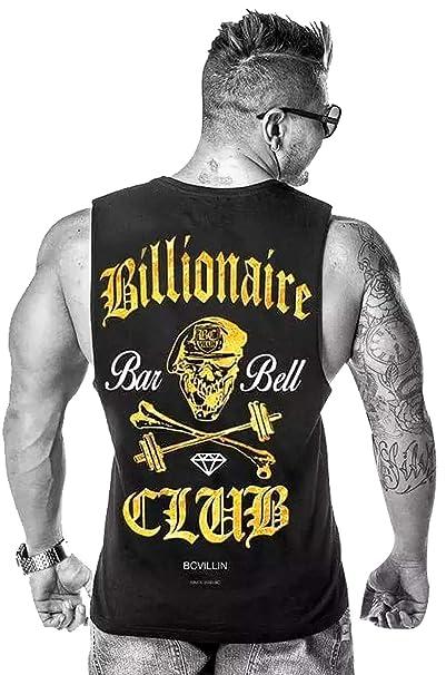 A. M. Sport Camisa Camiseta sin Mangas Fitness Culturismo Bodybuilding Deportiva para Hombre. (Billionari)