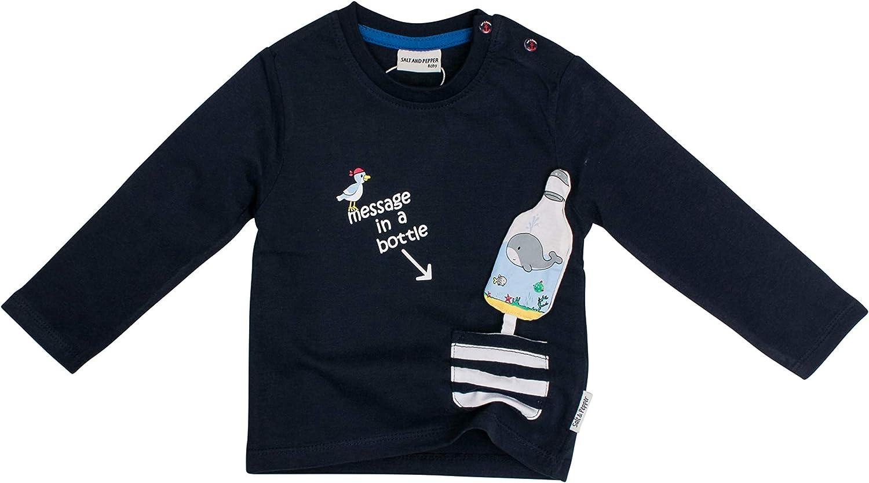 SALT AND PEPPER Baby-Jungen Mit Kleiner Gestreiften Tasche Langarmshirt