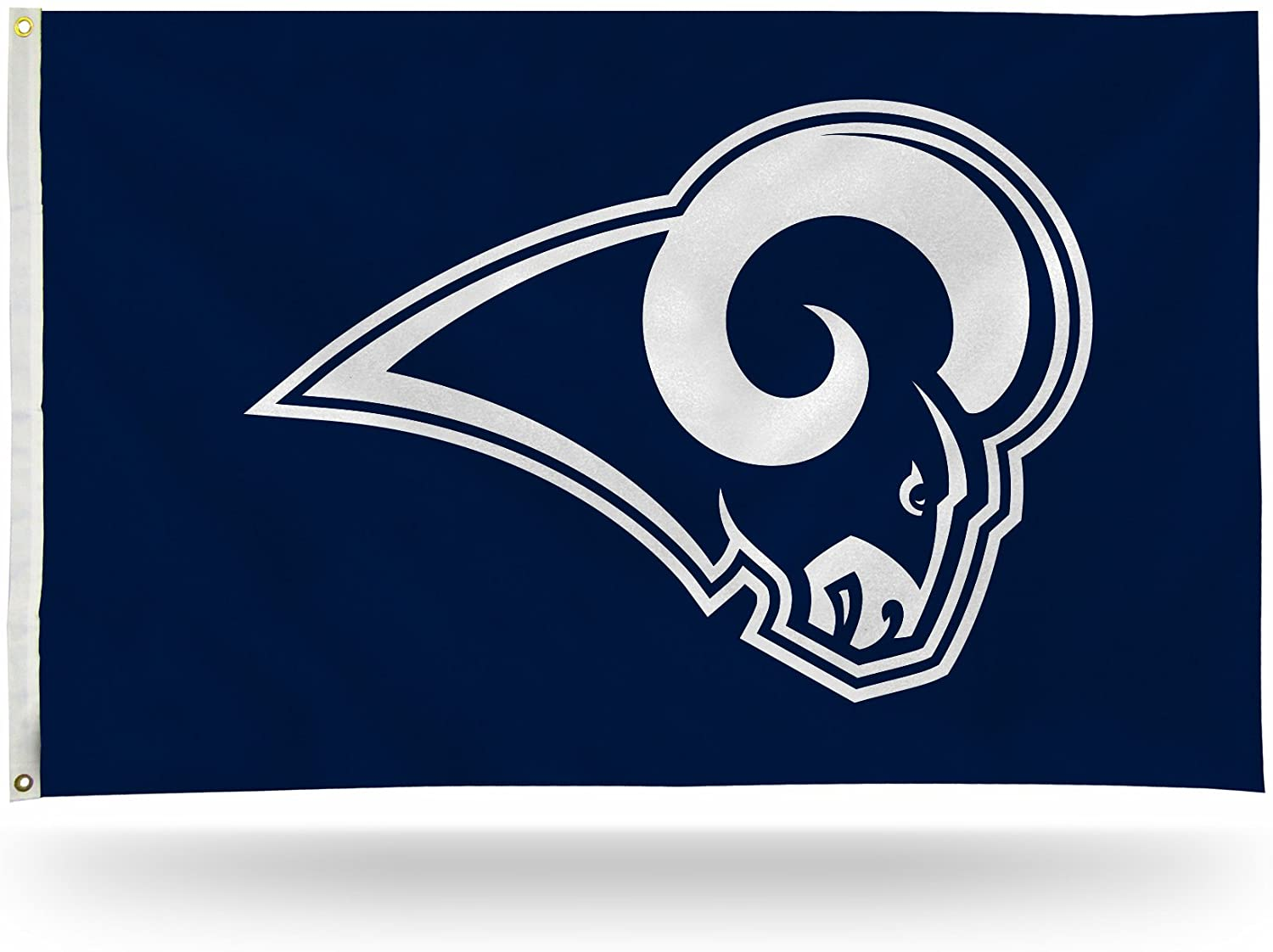 NFL Rico Industries 3-Foot by 5-Foot Single Sided Banner Flag with Grommets, Los Angeles Rams