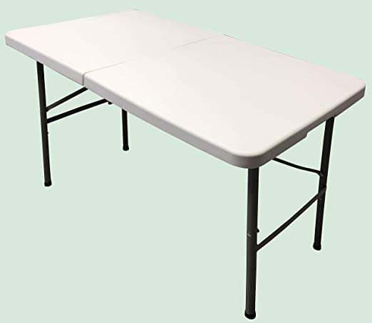 Homelux 710090 Mesa Plegable Resina, 122 x 61 x 74 cm: Amazon.es ...