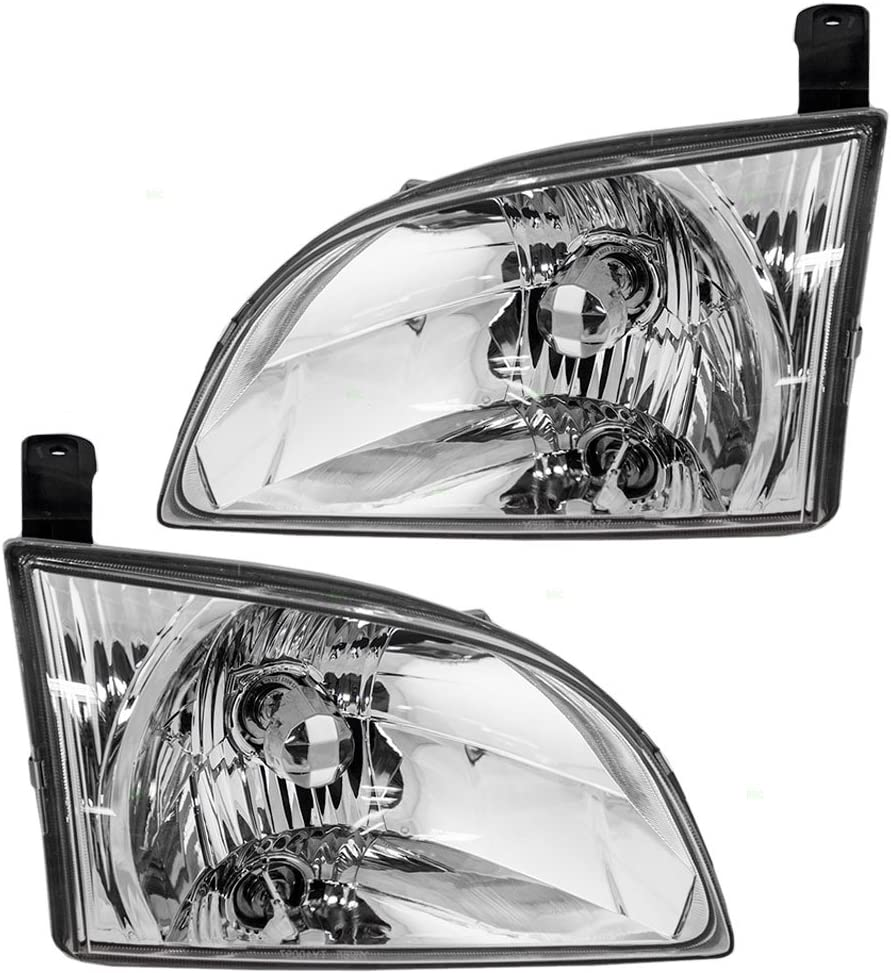 New TO2502135 Driver Side Headlight for Toyota Sienna 2001-2003