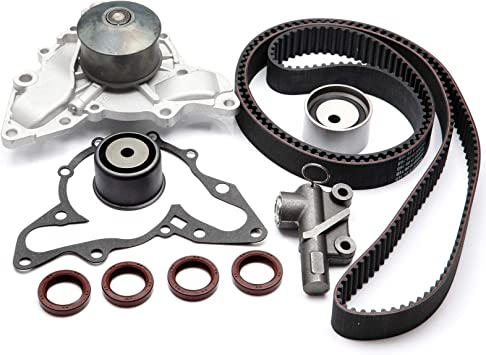 Timing Belt Kit Water Pump w//Gasket Tensioner for 2002-2006 Hyundai XG350 Santa Fe and Kia Sedoma Amanti 3.5L V6 DOHC 24V G6CU