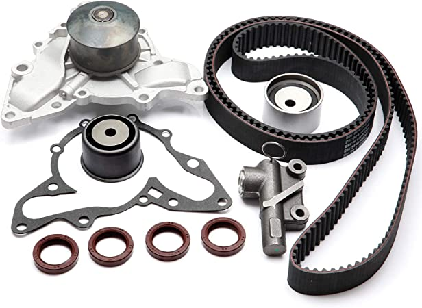 CCIYU Timing Belt Water Pump with Gasket Tensioner Bearing Fits 02-06 Hyundai XG350 Santa Fe Kia Sedona 3.5L